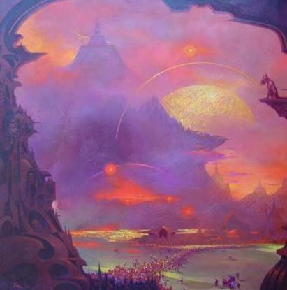 dream landscape lila